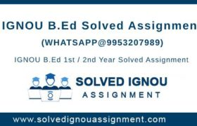 B.Ed IGNOU Assignment