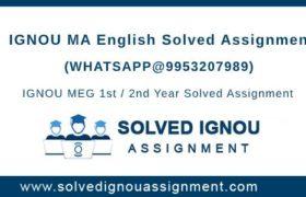 MA English Ignou Assignment