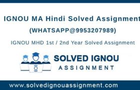 MA Hindi IGNOU Assignment