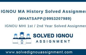 MA History IGNOU Assignment