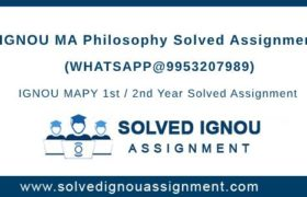 MA Philosophy IGNOU Assignment