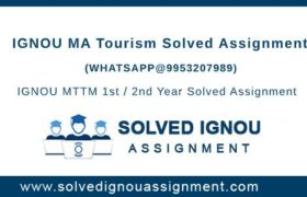 MA Tourism IGNOU Assignment