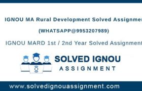 MARd IGNOU Assignment