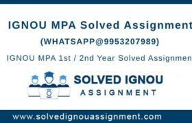 MPA IGNOU Assignment