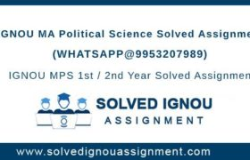 MPS IGNOU Assignment