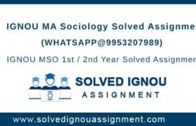 MSO IGNOU Assignment