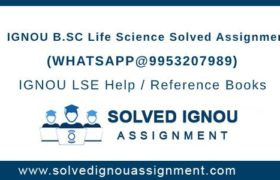 B.Sc Life Science IGNOU Assignment