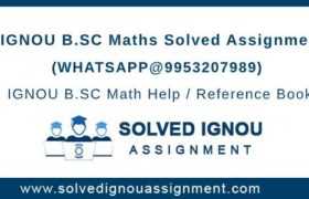 B.Sc Math IGNOU Assignment