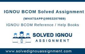 BCOM IGNOU Assignment