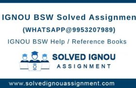 BSW IGNOU Assignment