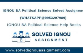 IGNOU BA Political Science