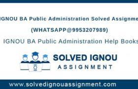 IGNOU BA Public Administration