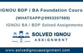 IGNOU BDP Foundation