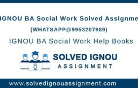 IGNOU BSW Assignment