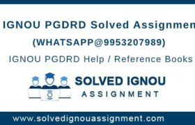 PGDRD IGNOU Assignment