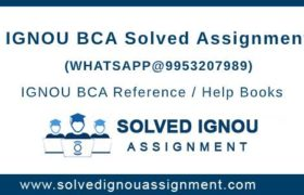 IGNOU BCA Assignments