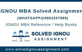 IGNOU MBA Assignments