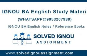 IGNOU BA English Study Material