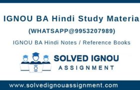 IGNOU BA Hindi Study Material