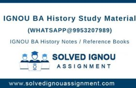 IGNOU BA History Study Material