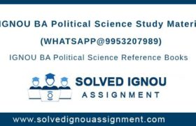 IGNOU BA Political Science Study Material
