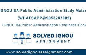 IGNOU BA Public Administration Study Material