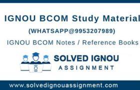 IGNOU BCOM Study Material