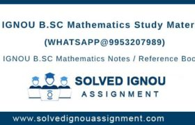 IGNOU BSC Math Study Material