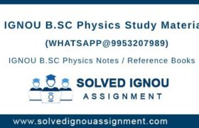 IGNOU BSC Physics Study Material
