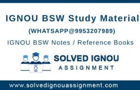 IGNOU BSW Study Material