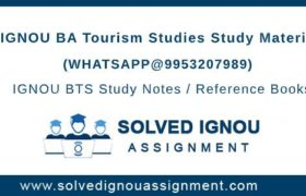 IGNOU BTS Study Material