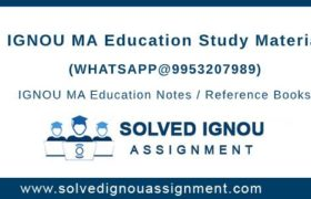 IGNOU MA Education Study Material