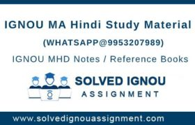 IGNOU MHD Study Material