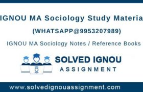 IGNOU MSO Study Material