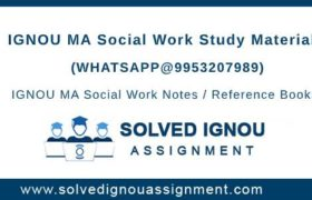 IGNOU MSW Study Material