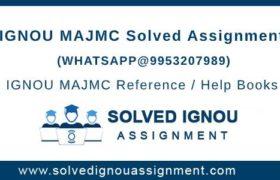IGNOU MAJMC Assignment