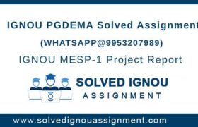 IGNOU PGDEMA Assignment