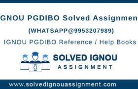 IGNOU PGDIBO Assignment