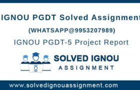 IGNOU PGDT Assignment