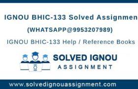 IGNOU BHIC133 Assignment