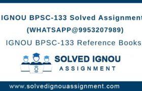 IGNOU BPSC133